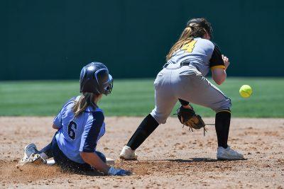 Girls softball play